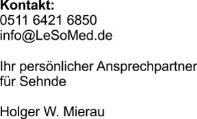 LeSoMed Ansprechpartner Niedersachsen